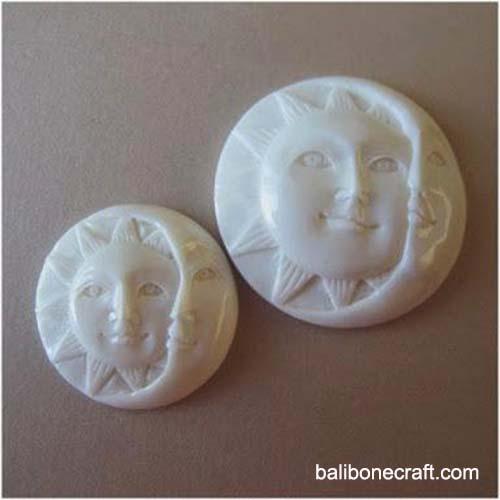 Moon face and sun