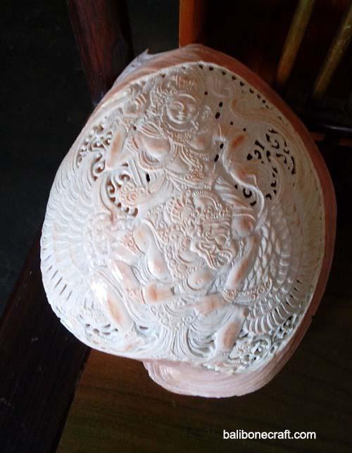 shell carving motif garuda wisnu
